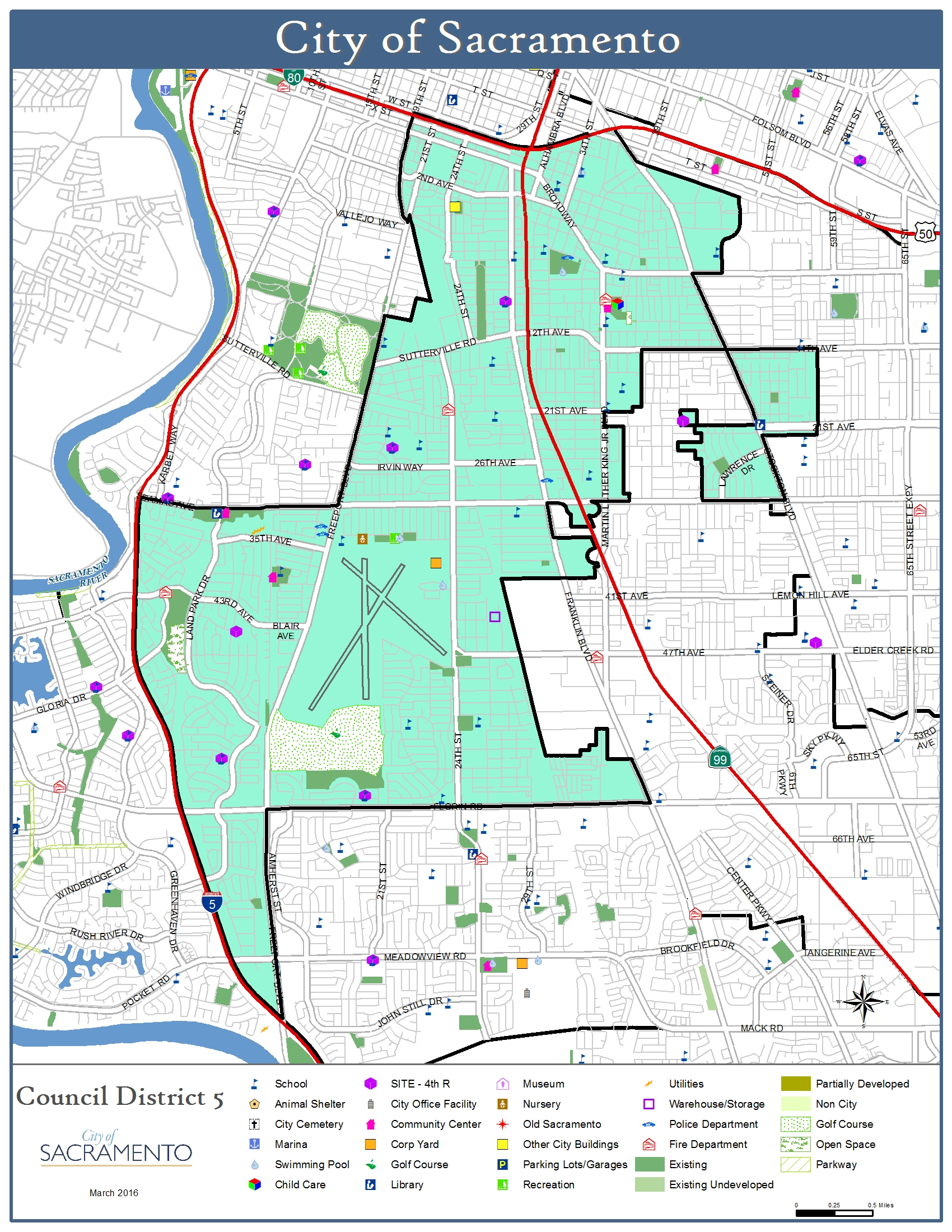 District 5 Map City of Sacramento