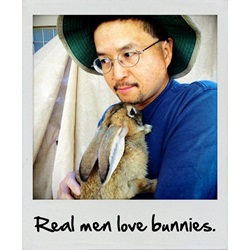 Volunteer with bunny