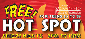Free Hot Spot Friday Nights from 7 to 11pm