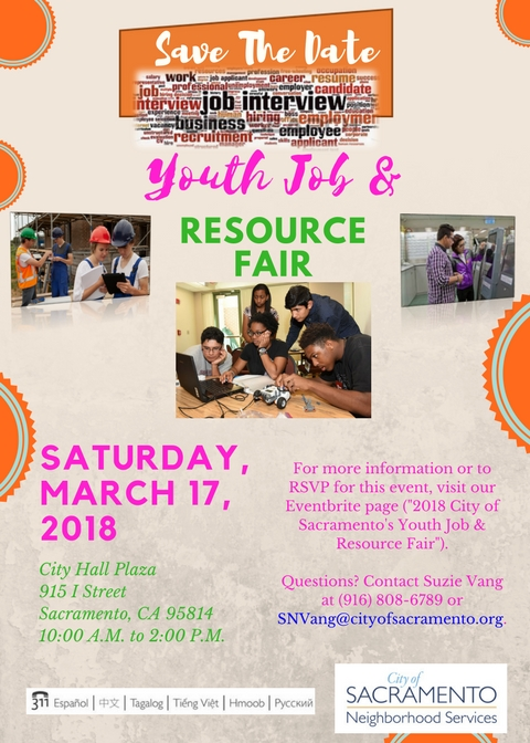 Youth Job & Resource Fair - City of Sacramento