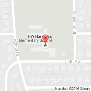 Goolge map of H.W. Harkness Elementary School
