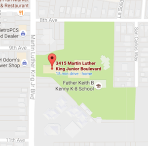Map Image of Oak Park Neighborhood Association meeting location at the Oak Park Community Center