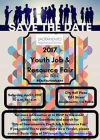 2017 Youth Job Fair SAVE THE DATE