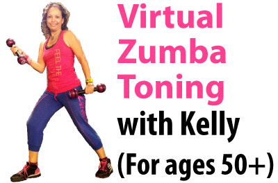 Virtual Zumba Toning with Kelly (for ages 50+)