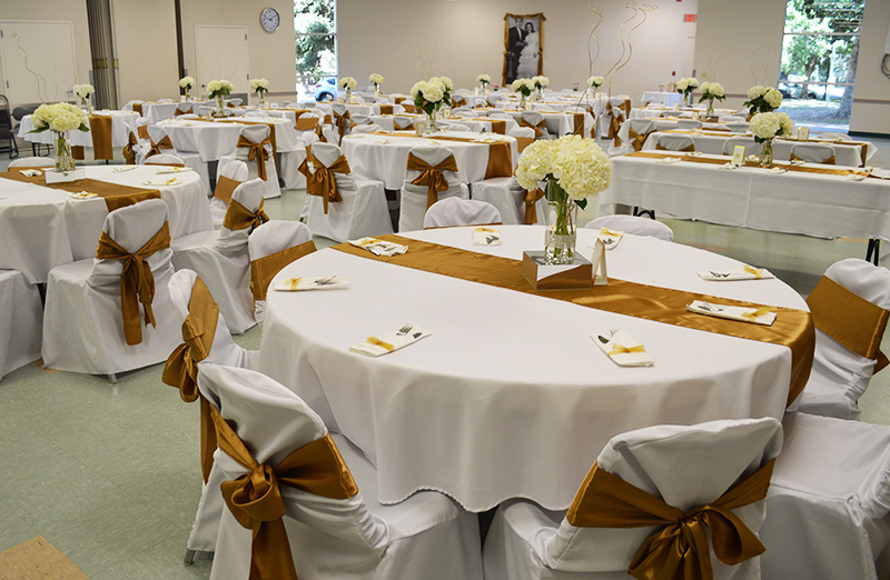 Hart room rental for occasions - decorated tables