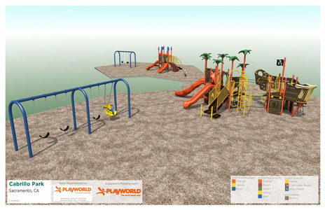 New Play Equipment soon to be at Cabrillo Park
