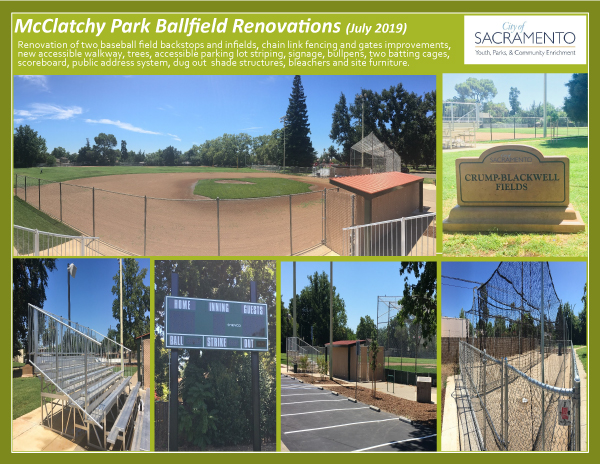 McClatchy Ballfield Completion Photos