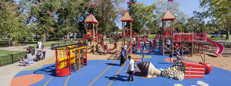 New McClatchy Park Amusement Park Design Play Area