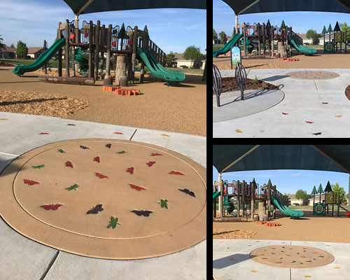 Butterflies and Dragonflies are a part of playground motif