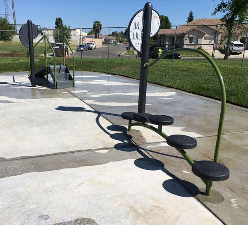 New Fitness Stations at Richfield Park