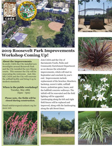 Roosevelt Park Scheduled Improvements Workshop Flyer