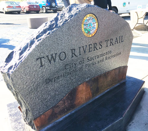 Two Rivers Trail Name Plaque