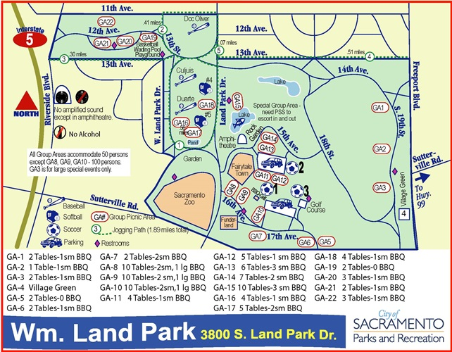 Map of William Land Regional Park