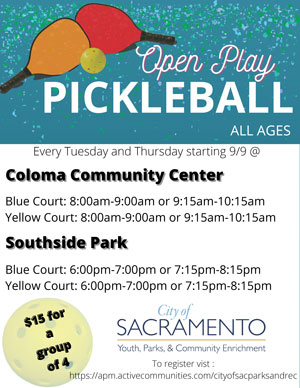 Pickleball in two locations