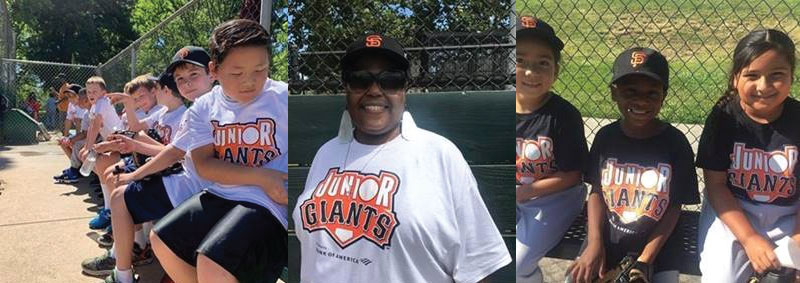 Junior Giants Happy Participants and Awesome Coach