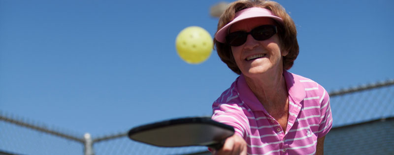 Photo of Pickle Ball Participant