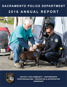 Sacramento Police Department 2016 annual report cover