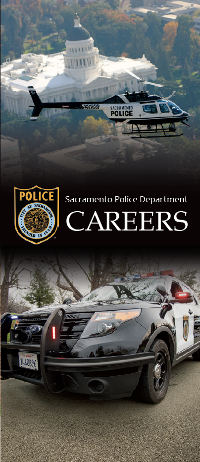 SacPD Recruiting Brochure Front Panel