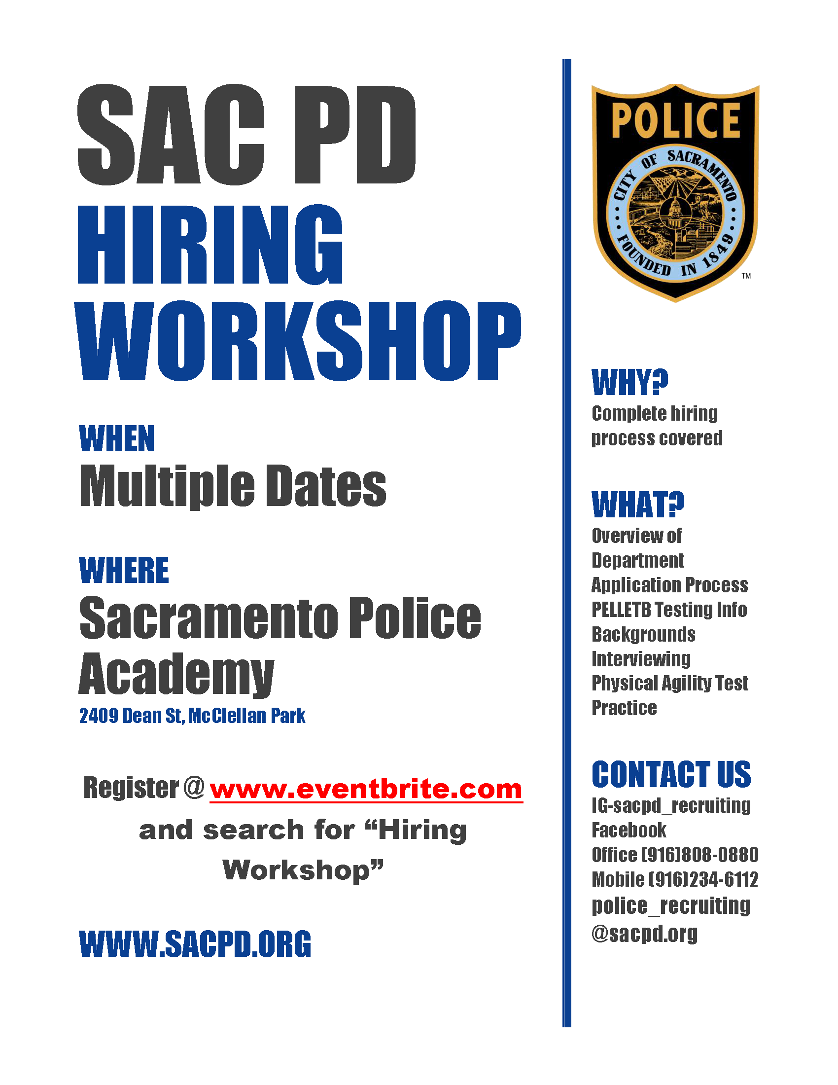 SacPD Hiring Workshop-Image