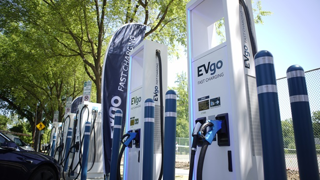 EVgo curbside chargers at Southside Park