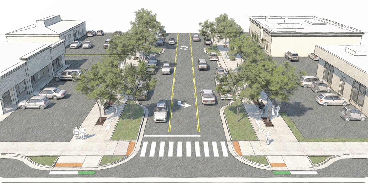 Franklin Boulevard Complete Street conceptual rendering