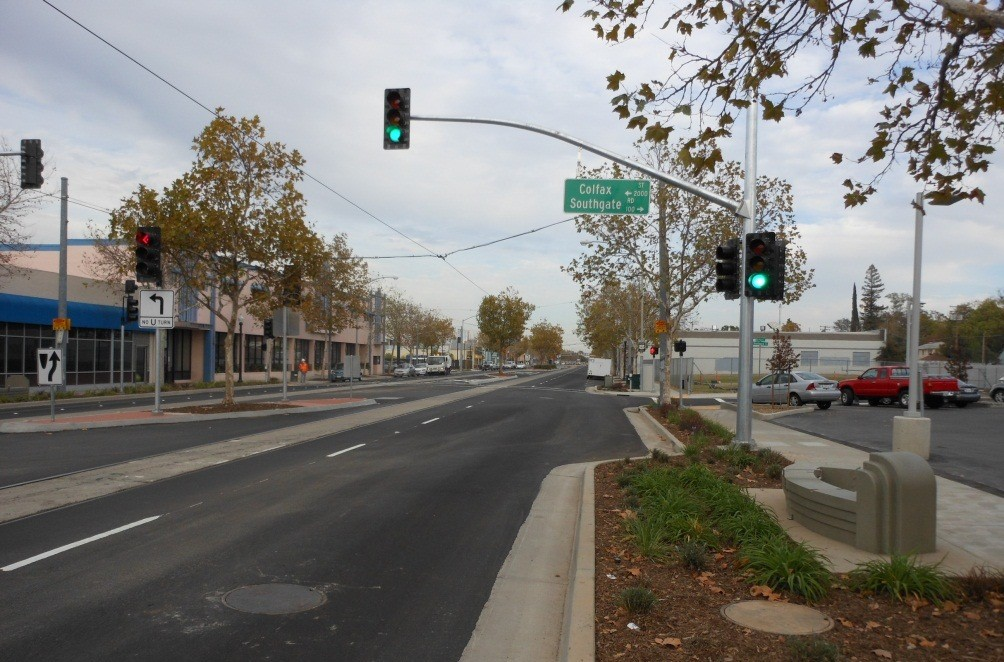 Streetscape improvements to Del Paso Boulevard