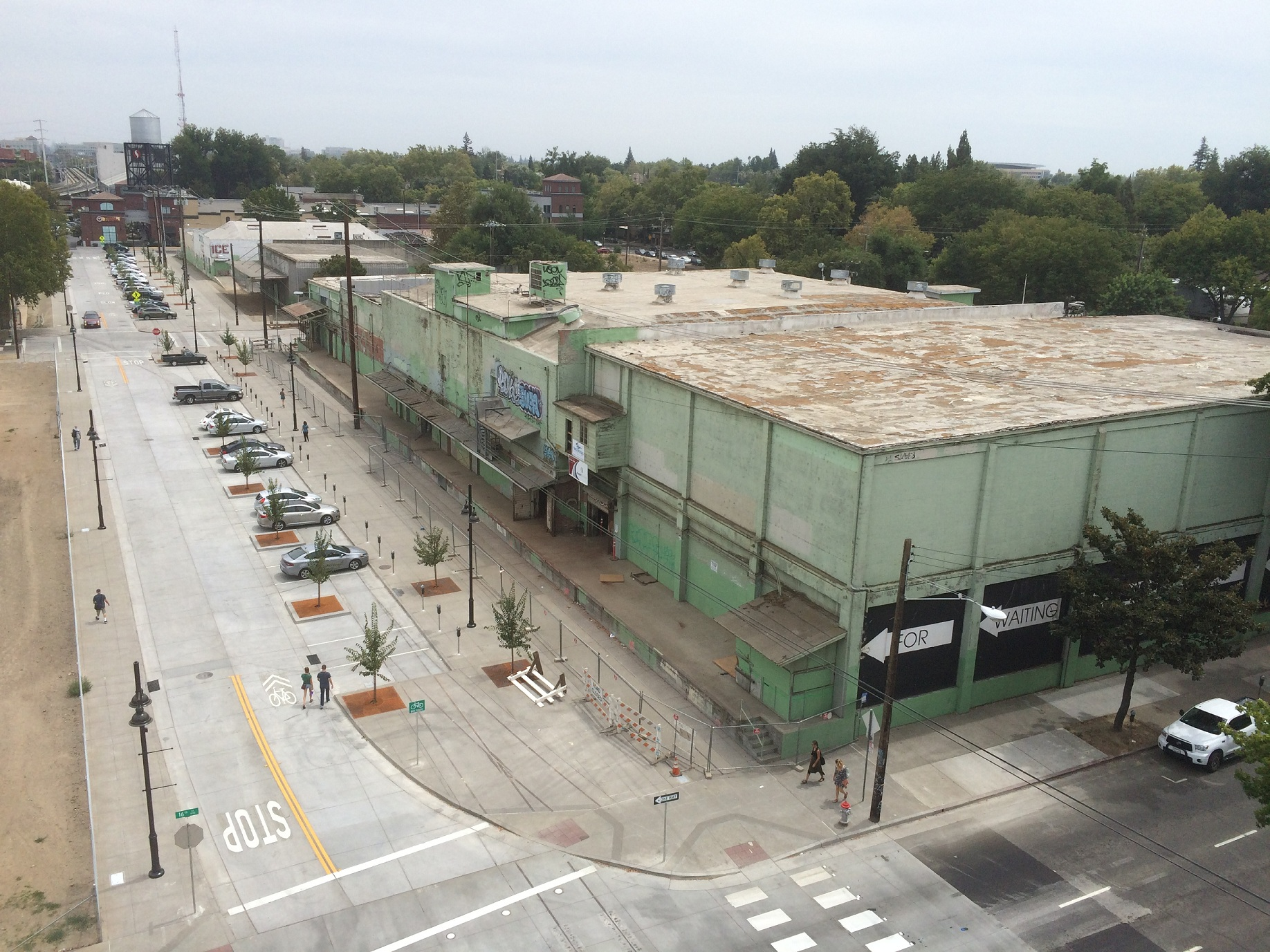 Aerial View of Streetscape Improvements