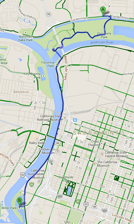Sacramento Marina Bike Map