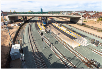 Sacramento Valley Station track infrastructure Phase 1