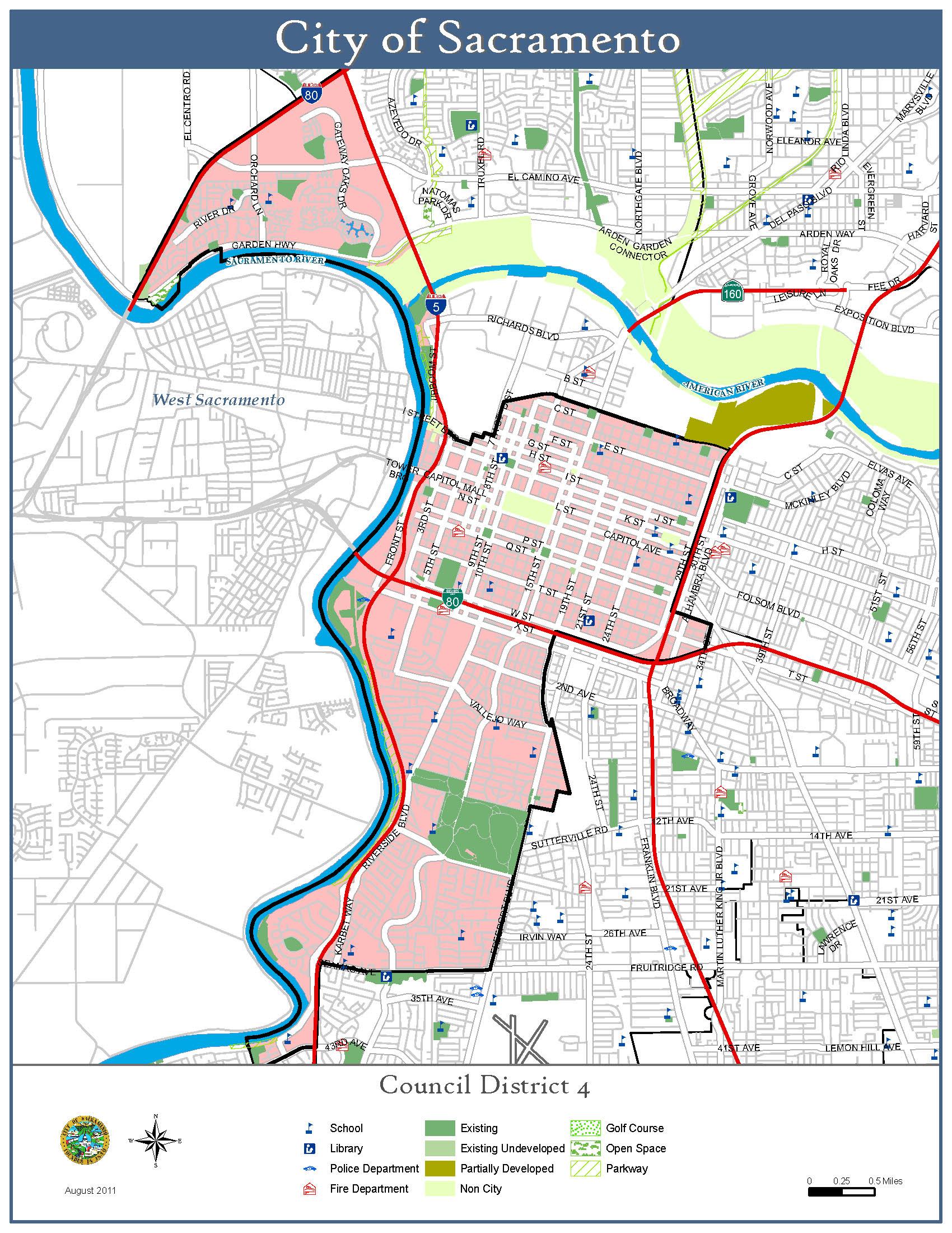 map gallery city of sacramento